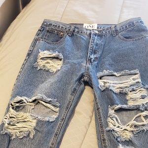 One teaspoon baggie distressed jeans 28